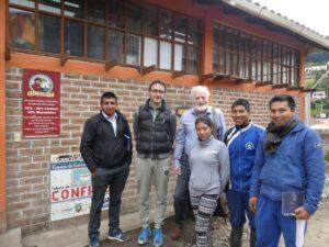 Manfred mit der Kooperative Salinerito in Ecuador